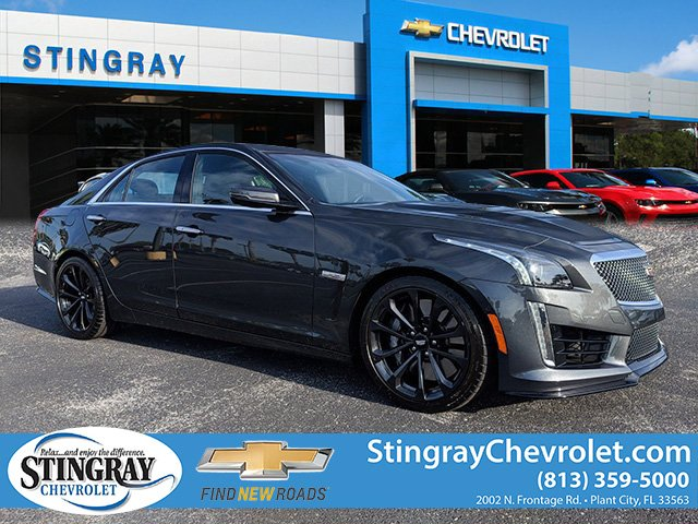 Cadillac Cts V Used >> Pre Owned 2018 Cadillac Cts V Base 4d Sedan In Plant City J0145185